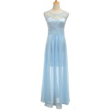 Bridesmaid Dresses Lace Long Formal Chiffon Party Ball Gowns