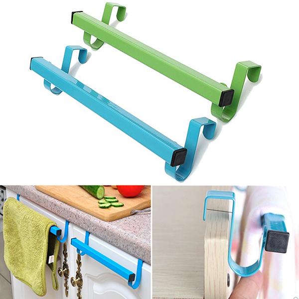 24cm space saving door drawer towel hanger bathroom for Bathroom clothes hanger