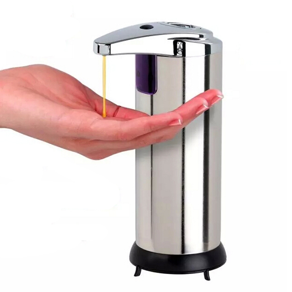 Electric Hand Soap Dispenser ~ Stainless infrared automatic sensor hand sanitizer soap