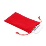 Universal Leisure Cotton Flock Cloth Carry Bag with Lanyard for iPhone 6 Plus / Samsung Galaxy Note 4 / Galaxy Mega 6.3 / i9200(Red)