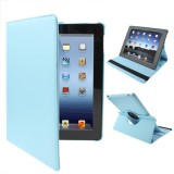 360 Degree Rotatable PU Leather Case with Sleep / Wake-up Function & Holder for New iPad (iPad 3) / iPad 2, Baby Blue