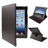 360 Degree Rotatable PU Leather Case with Sleep / Wake-up Function & Holder for New iPad (iPad 3) / iPad 2 / iPad 4, Coffee(Coffee)