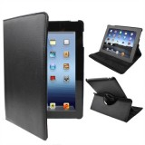 360 Degree Rotatable PU Leather Case with Sleep / Wake-up Function & Holder for New iPad (iPad 3) / iPad 2 / iPad 4, Black(Black)