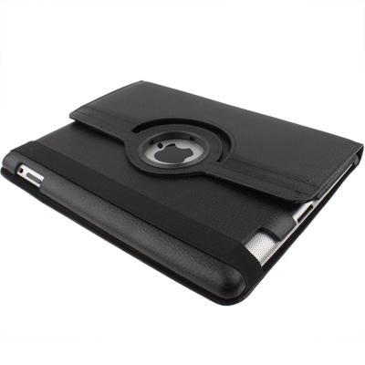 360 Degree Rotatable PU Leather Case with Sleep / Wake-up Function & Holder for New iPad (iPad 3) / iPad 2 / iPad 4, Black(Black)