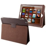 High Quality Litchi Texture Folding Leather with Sleep / Wake-up & Holder Function for iPad 2 / iPad 3 / iPad 4 (Coffee)