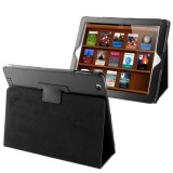 High Quality Litchi Texture Folding Leather with Sleep / Wake-up & Holder Function for iPad 2 / iPad 3 / iPad 4 (Black)