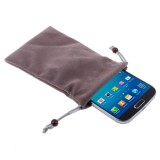 Universal Soft Flannel Carry Bag with Pearl Button for iPhone 6 / Samsung S IV / i9500 / i9300 / i9250 / i8750 / iPhone 5 / HTC One / ASUS PadFone2 / HTC G23 / Sony LT29i / Sony L36h / LG E960 / Sony M35h / LG P880 / LG E975 / Nokia Lumia 920 , Size: 15.5 x 9 cm