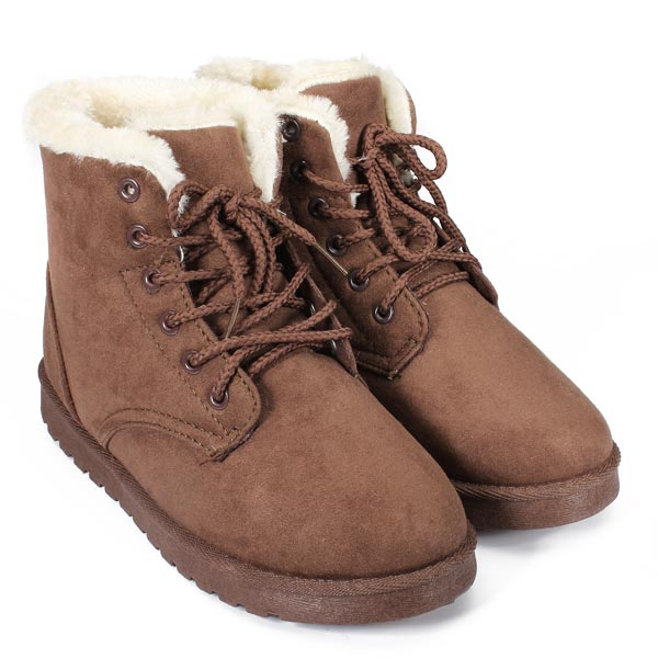 flat suede fur lining ankle snow boots alex nld