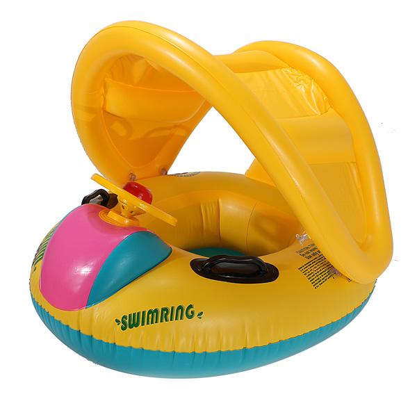 Adjustable Sunshade Baby Swim Float Seat Boat Inflatable