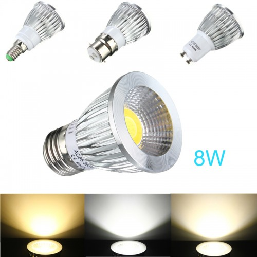 e27 gu10 e14 b22 8w cob led dimmable downlight bulbs spotlight ac 85v 265v alex nld. Black Bedroom Furniture Sets. Home Design Ideas