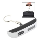 50kg x 50g Portable LCD Digital Hanging Travel Luggage Scale with Indoor Thermometer