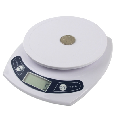 Electronic kitchen scale 1g 7kg white alex nld for 0 1g kitchen scales