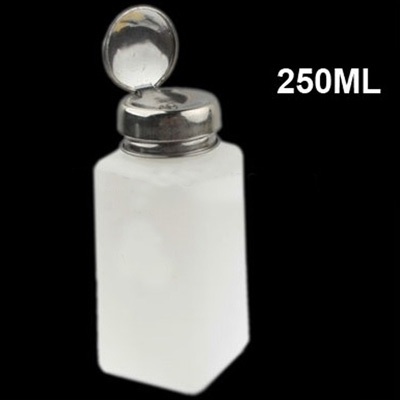 250ml Push Down Alcohol and Liquid Container Bottle