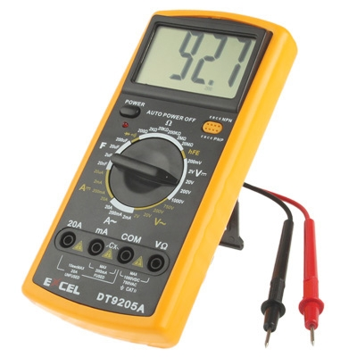 DT9205A LCD Digital Multimeter for Diode Testing ...