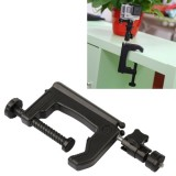 Table Clamp Desktop Holder Mount + Tripod Adapter for GoPro Hero 4 / 3+ / 3 / 2 / 1, Clamp Size: 1 – 6 cm