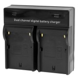 Dual Channel Digital Battery Charger for Sony F550 / F730 / F750 / F960 / F960H, EU Plug