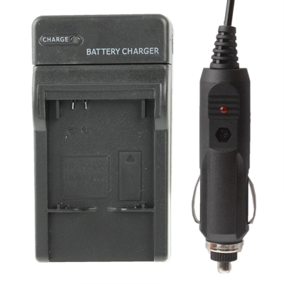 Digital Camera Battery Smart Charger with Power Plug & Car Charger Travelling Set for Gopro HD HERO3 (Black)