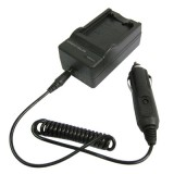 2 in 1 Digital Camera Battery Charger for Samsung SLB-0837 (B)