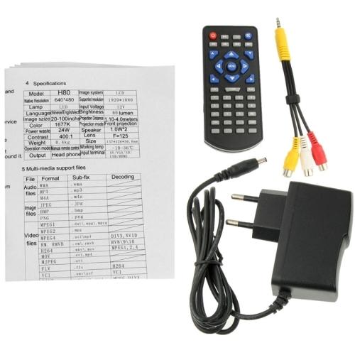 h80 led mini projector manual