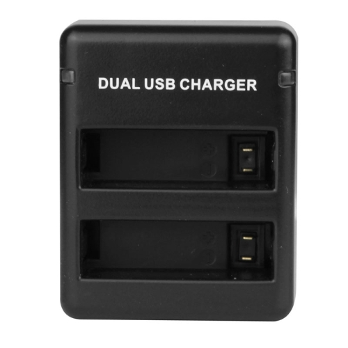 USB Dual Battery Travel Charger for GoPro Hero 4  (AHDBT-401) (Black)