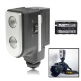 LED-5004 2 Digital LED Video Light with Two Grade Dimming Function with 6600mAh Lithium NP-F970 Battery (Black)