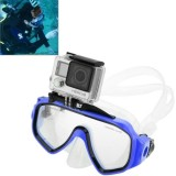 Water Sports Diving Equipment Diving Mask Swimming Glasses with Mount for GoPro Hero 4 / 3+ / 3 / 2 / 1 (Blue)