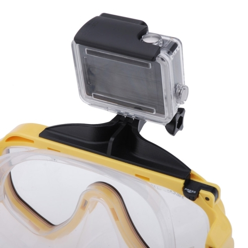 Water Sports Diving Equipment Diving Mask Swimming Glasses with Mount for GoPro Hero 4 / 3+ / 3 / 2 / 1 (Yellow)