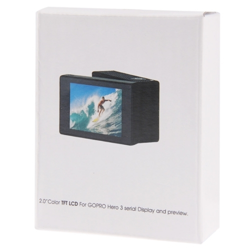 LCD BacPac External Display Viewer Monitor Non-touch Screen for Gopro Hero 3 (Black)