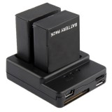 Battery Charger for GoPro Hero 3+ / 3  (AHDBT-301, AHDBT-302) (Black)