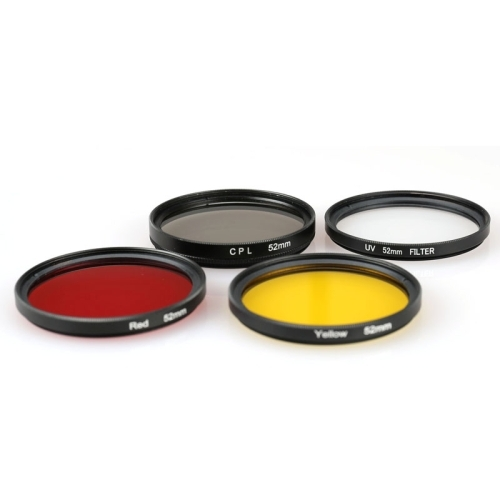 LAILINSHENG Camera Accessories 52mm Round Circle Color UV Lens Filter for GoPro Hero 4//3+ Red Color : Yellow