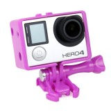 TMC BacPac Frame Mount Housing Case for GoPro Hero 4 / 3+ / 3 (Purple)