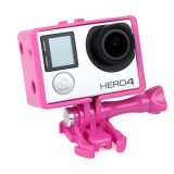 TMC BacPac Frame Mount Housing Case for GoPro Hero 4 / 3+ / 3 (Magenta)