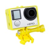 TMC BacPac Frame Mount Housing Case for GoPro Hero 4 / 3+ / 3 (Yellow)