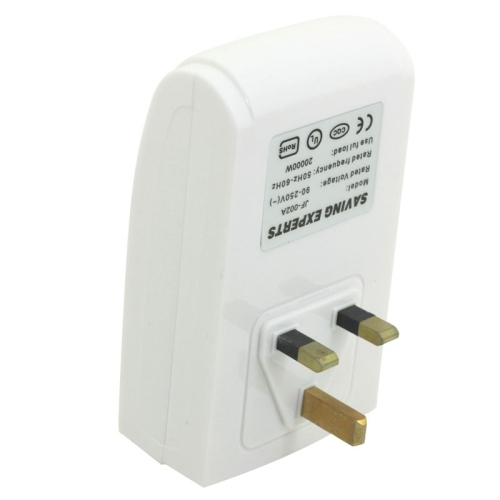 UK Plug Indoor Energy Saver Power Electricity Saving Experts Energy Save Equipment (White)