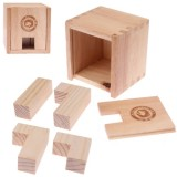 Intelligence Wooden Box Shaped IQ Puzzle Magic Cube Toy