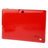HSD-7082 Red, 7.0 inch Capacitive Screen Android 4.0 Tablet PC with WIFI, Dual Camera, 360 Degree Menu Rotate, 512MB RAM + 4GB ROM, CPU: Allwinner A23 Dual Core, 1.2GHz