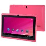 HSD-7080 7.0 Inch Capacitive Screen Android 4.0 Tablet PC with WIFI, Dual Camera, 360 Degree Menu Rotate, 512MB RAM + 4GB ROM, CPU: Allwinner A33 Quad Core 1.5GHz (Pink)