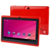 HSD-7080 7.0 Inch Capacitive Screen Android 4.0 Tablet PC with WIFI, Dual Camera, 360 Degree Menu Rotate, 512MB RAM + 4GB ROM, CPU: Allwinner A33 Quad Core 1.5GHz (Red)