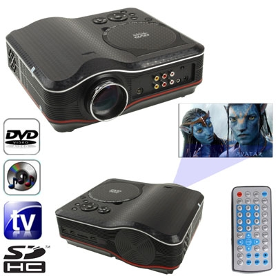 Portable dvd projector with tv receiver function pal for Portable movie projector