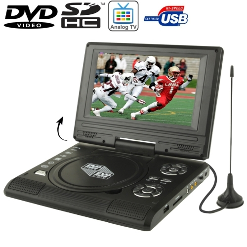 Portable Screen Tv : Inch tft lcd screen portable dvd with tv player