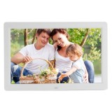 12 inch LED Display Multi-media Digital Photo Frame with Holder & Music & Movie Player, Support USB / SD / Micro SD / MMC / MS / XD Card Input (White)