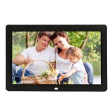 12 inch LED Display Multi-media Digital Photo Frame with Holder & Music & Movie Player, Support USB / SD / Micro SD / MMC / MS / XD Card Input (Black)