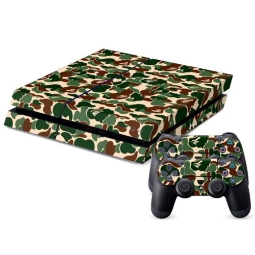 Camouflage pattern decal stickers for ps4 game console for Ps4 hunting and fishing games