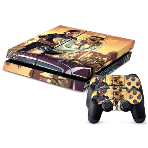 Character pattern decal stickers for ps4 game console for Ps4 hunting and fishing games