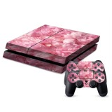 Pink Flower Pattern Decal Stickers for PS4 Game Console