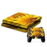 Sunflower Pattern Decal Stickers for PS4 Game Console
