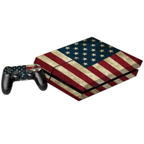 Us flag pattern decal stickers for ps4 game console alex nld for Ps4 hunting and fishing games