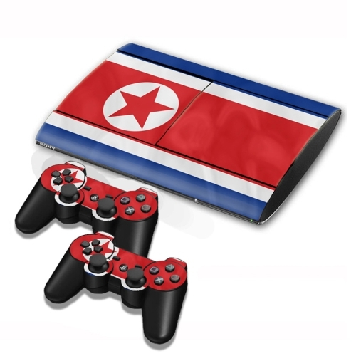 North korean flag pattern decal stickers for ps3 game console