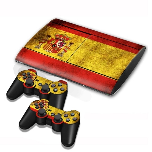 Spainish Flag Pattern Decal Stickers for PS3 Game Console ...