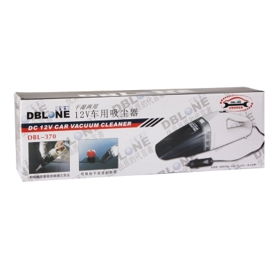 DBL-370 Mini DC 12V High-Power Wet and Dry Portable Car Vacuum Cleaner (White)